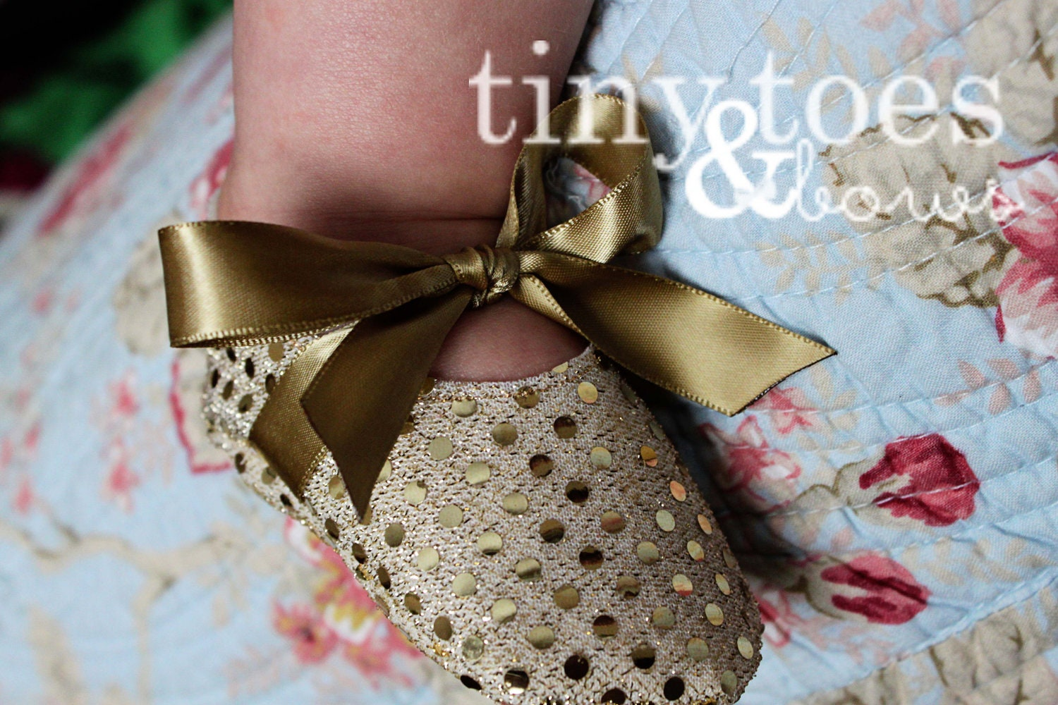 Sparkle Gold Glitter Baby Shoes