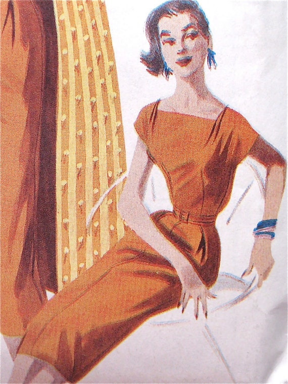Retro '56 Butterick Sewing Pattern 6632. Year 2000 Reissue of 50s pattern.