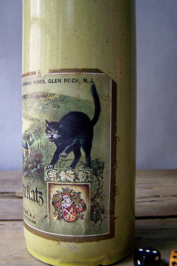 Black Cat Wine Bottle Riesling Suretly Ico Kotoo Show