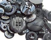 BULK - Buttons - Black - OVER 50