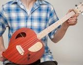 NEW DESIGN The Heart tenor ukulele  in ( Padauk)  wood