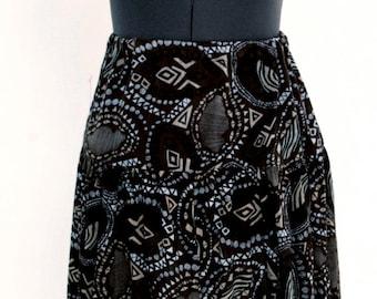 Maxi Print Skirt