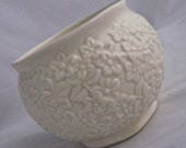 Vintage 3d Flowered Planter