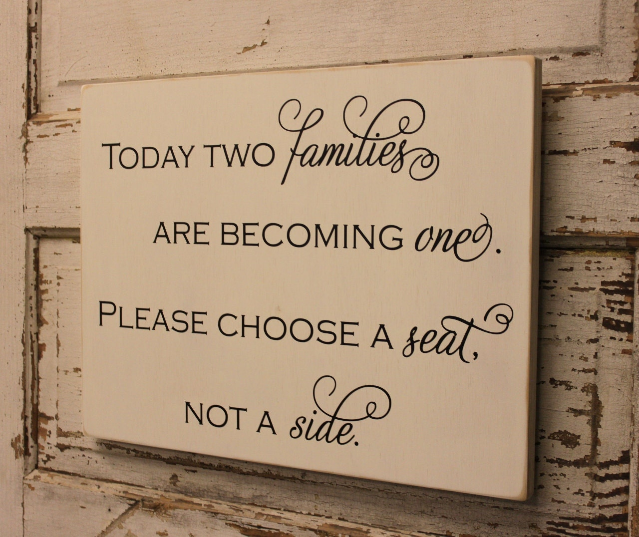 Choose A Seat Not A Side W 036a Custom Wedding Sign By Back40life