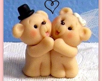 Cute Miniature Teddy Bear Cupcake Topper