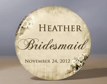 Bridesmaid Gift | Personalized Pocket Mirror | Flower Girl Gift | Grandma of the Bride Gift | Maid of Honor Gift | Bridal Shower Favor