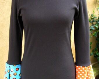 Women's Large Partridge 3/4 Flutter T-Shirt