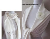 PURE WHITE Pashmina Scarf, Wedding Shawl, Bridemaid Gift Idea Womes Scarf Shawl Wrap Wedding Gift or CHOOSE Your Color