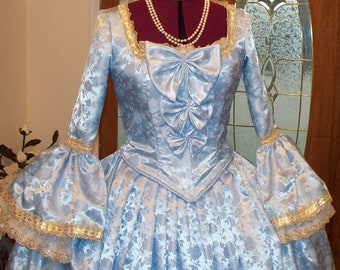 Marie Antoinette Dress,Marie Antoinette Costume,Marie Antoinette Gown,Masquerade Dress,Ball Gown,Mardi Gras Costume,Colonial Dress