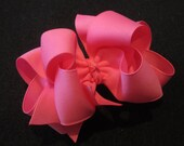 Double layer Hairbow, Girls Hairbows, Large hairbows, Hair Bow, Pink Hair Bow, Bubblegum Pink Bow, Loopy Hair Bows, Baby Headband, Big Bows