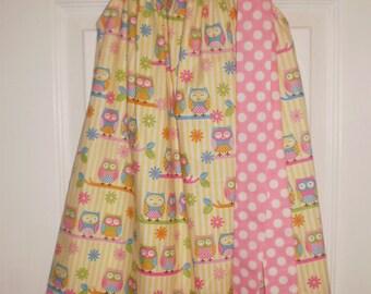READY TO SHIP - Handmade Owl Pillowcase Dress Size 4