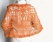 Lace  Shawl  Wrap OrangeTangerine