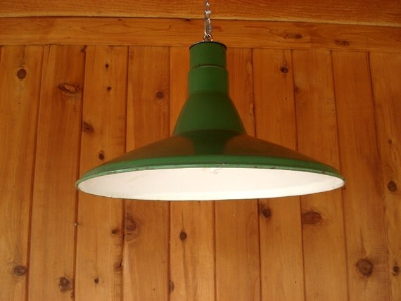 Porcelain Vintage Green Pendant Light