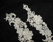 1 Pair White lace, wedding, bridal