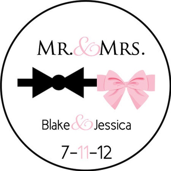custom wedding stickers design77 mr and mrs labels wedding favors