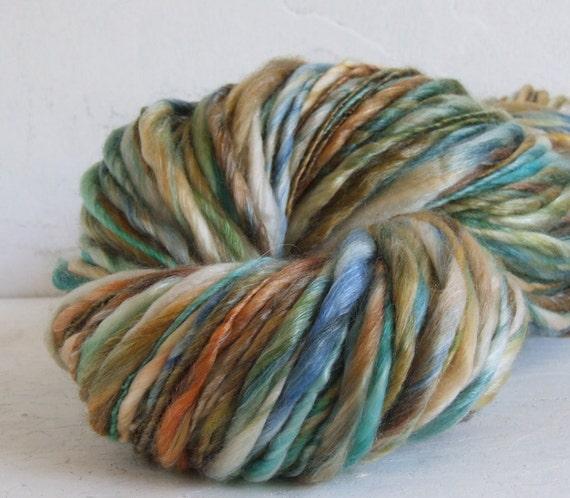 Handspun yarn - Depths - 120 yds sw merino tencel