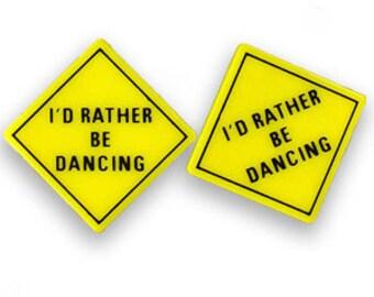 Vintage Rather Be Dancing Earrings DEADSTOCK
