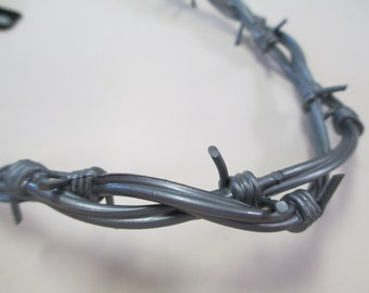 Vintage Rubber Hard Core Rubber Barbed Wire Necklace DEADSTOCK