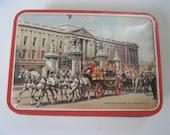 Vintage Tin Cookie Candy England Bensons Buckingham Palace