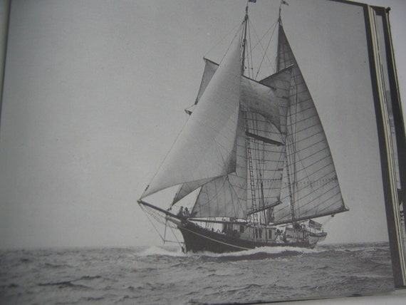 Vintage Nautical Book Sailing  The Bay and Sound  Fortier Parkinson