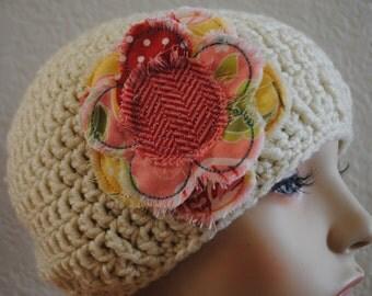 Riley Blake Apple of My Eye Cotton Flower Hair Clip - Hat Clip