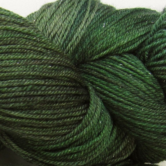 Arctic Hare hand dyed sock yarn fingering weight, 3ply superwash with sparkle, 100g: Covetous 1