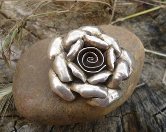 Silver Rose Pendant - 901