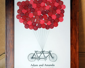 Wedding Guest Book Balloons Tandem Bike for up to 100 Guests