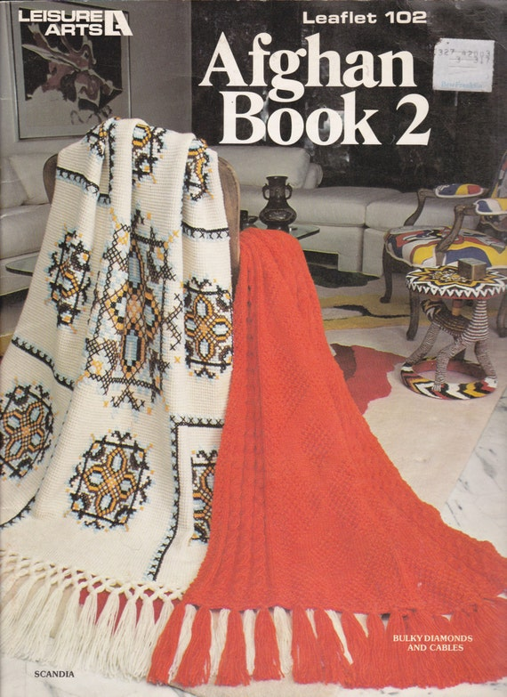 Leisure Arts Knitting Pattern Books : Leisure Arts Knit and Crochet Afghans Pattern by DisLilTreasures