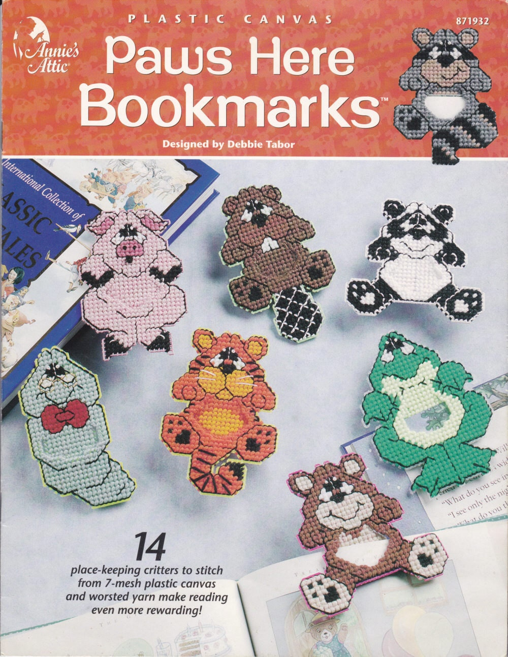 Annies Attic Paws Here Animal Bookmarks In By Disliltreasures