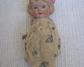 Antique Coquette Bisque doll all bisque moveable arms. Made in Japan,