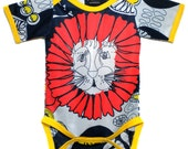 RESERVED FOR JENNIFER - Dandy Lion / size 18-24 months / lapped neck tee / stripe