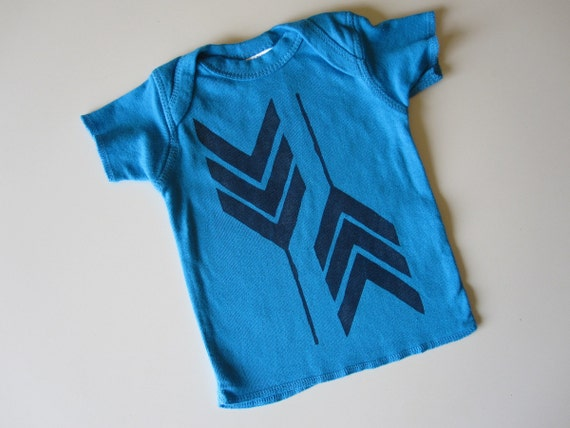 Baby Boy Tee, Navy Blue Feather Arrows, Tribal Embellished TShirt, 6 Months, Sale