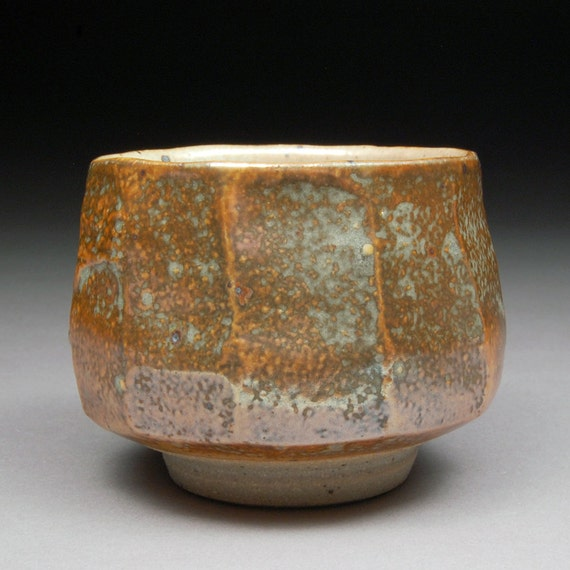 Yunomi Tea Cup Glazed With Salt Shino And Portland By