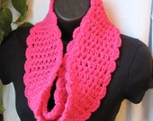 Cotton Chic Hot Pink Womens Scarf, Gifts for Her, Birthday Gifts, Handmade, SJE555