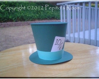 PRB27 In This Style Box Template SVG / Printable PDF Outline - Top Hat