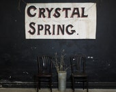 Antique Sign, Crystal Spring Handpainted Banner