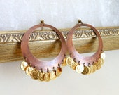 Tribal belly dance earrings bellydance jewelry with coins