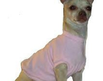 Pink T-shirt Dog Shirt - 4 Sizes Available - Love it or send it back - Guaranteed to fit