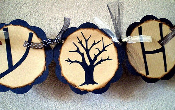 Happy Halloween Banner - Spooky Tree - Reserved for STEFANYMCDONALD