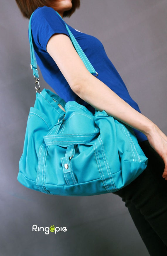 Sale 20%OFF-Ready To Ship-Bag in Teal/Shoulder bag/messenger bag/diaper/tote bag/handbag/school bag/laptop bag/tote/For Him/For Her -063