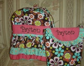 Girls Ruffle Backpack - perfect for Back to School (backpack only)