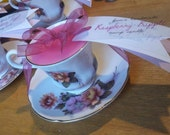 Beautiful Vintage Rose tea-cup sented candles.