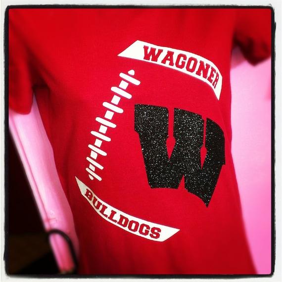 Custom football glitter shirt. Football bling shirt. Football mom shirt. Football team tee. Football glitter tee. Team glitter shirt.