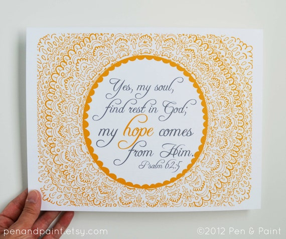 Scripture Wall Art Home Decor : Items similar to bible verse hope scripture