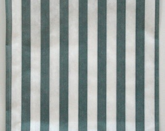Set of 50 - Traditional Sweet Shop Gray Candy Stripe Paper Bags - 5 x 7 New Style