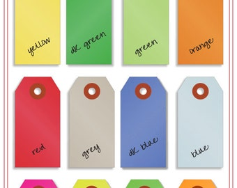 Mini Shipping Paper Tags - Seventeeen Colors Available - 1.375 x 2.75 - Pack of 250 - Your Color Choice
