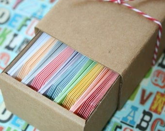 Mini Colorful Shipping Tags in Ten Colors - Tiny 1.375 Inches x 2.75 Inches - Variety Pack All Colors - Quantity 80
