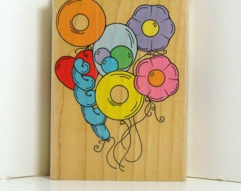 Special Balloon Bouquet  Rubber Stamp