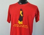 Vintage Bible Tee Church Catholic Christian Red Yellow St James John Super Soft and Thin TShirt LARGE